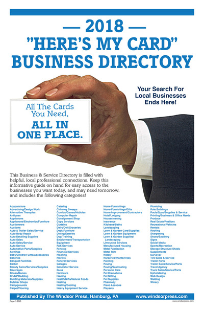 East Penn Valley Merchandiser - 2018 Business Directory