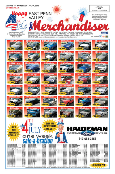 East Penn Valley Merchandiser - Jul 4, 2018