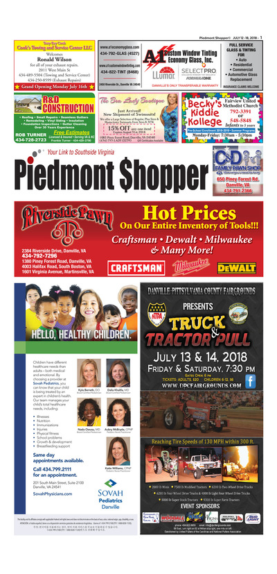 Piedmont Shopper - Jul 12, 2018