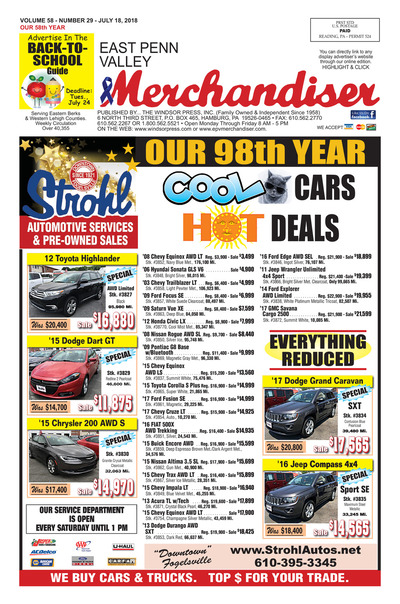 East Penn Valley Merchandiser - Jul 18, 2018