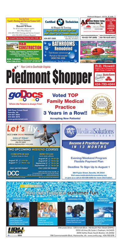 Piedmont Shopper - Jul 19, 2018