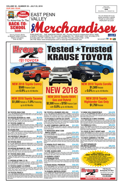 East Penn Valley Merchandiser - Jul 25, 2018