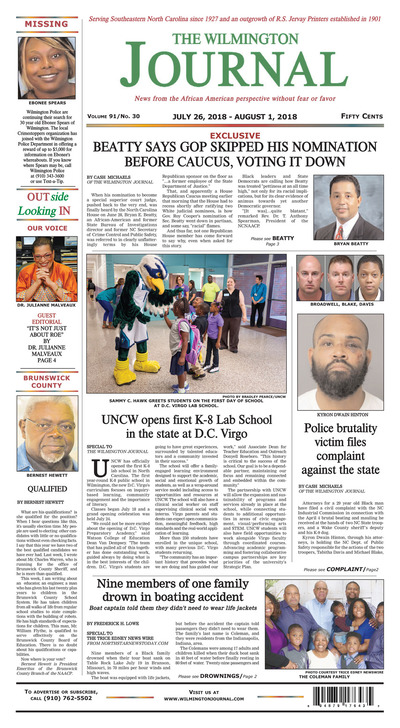 Wilmington Journal - Jul 26, 2018