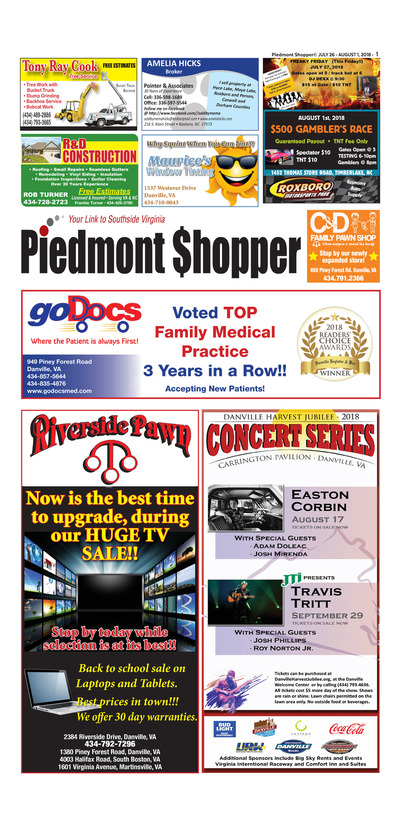 Piedmont Shopper - Jul 26, 2018