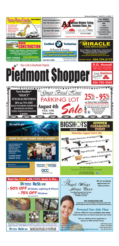 Piedmont Shopper - Aug 2, 2018