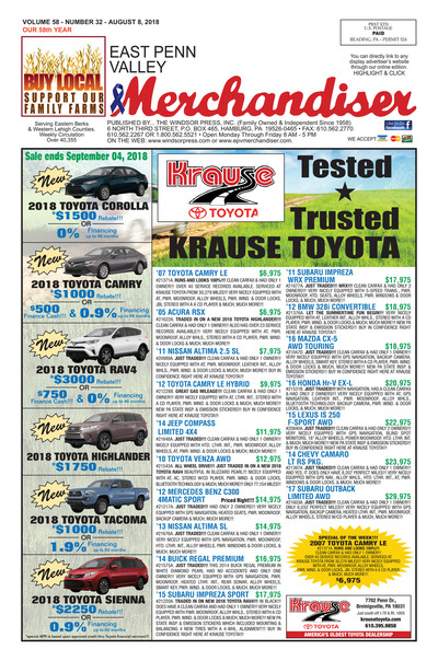 East Penn Valley Merchandiser - Aug 8, 2018