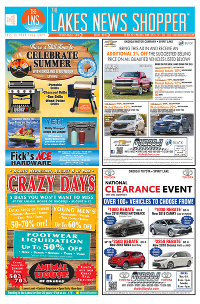 Lakes News Shopper - Aug 7, 2018
