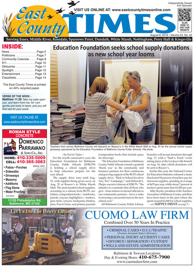 East County Times - Aug 9, 2018