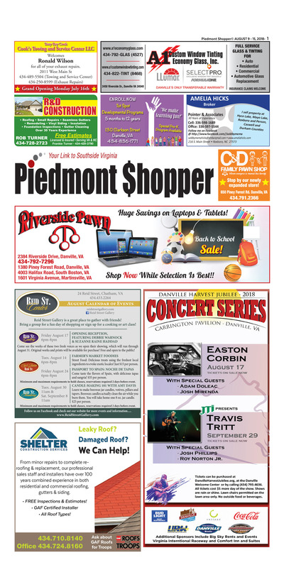 Piedmont Shopper - Aug 9, 2018