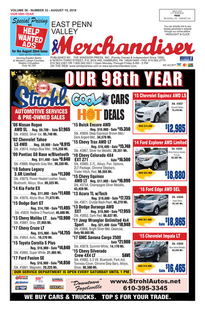 East Penn Valley Merchandiser - Aug 15, 2018