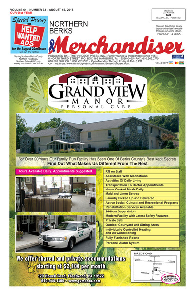 Northern Berks Merchandiser - Aug 15, 2018