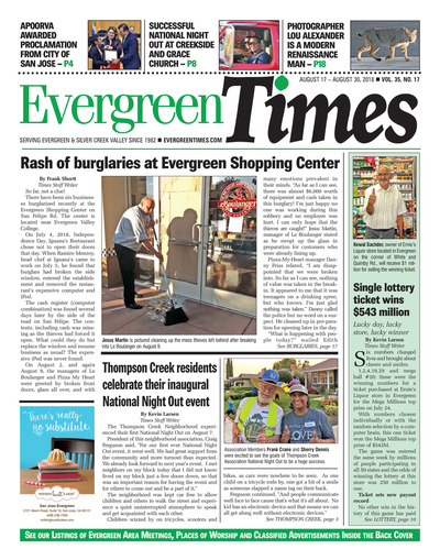 Evergreen Times - Aug 17, 2018