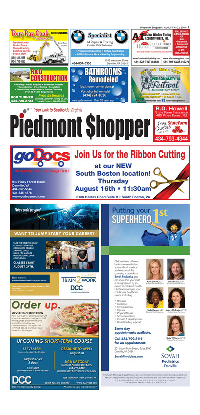 Piedmont Shopper - Aug 16, 2018