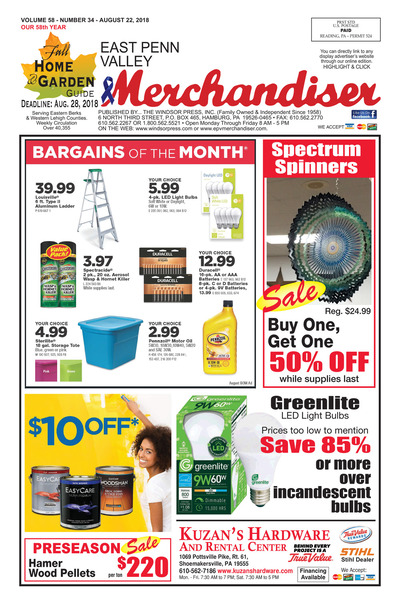 East Penn Valley Merchandiser - Aug 22, 2018