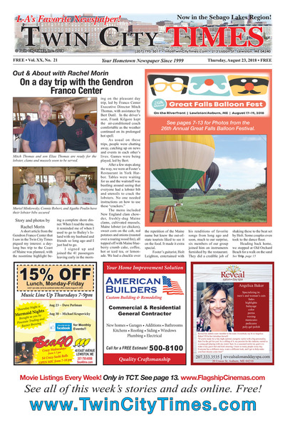 Twin City Times - Aug 23, 2018