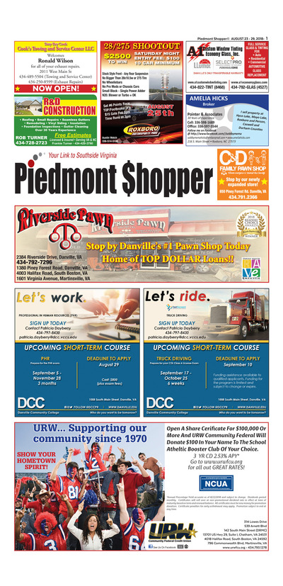 Piedmont Shopper - Aug 23, 2018