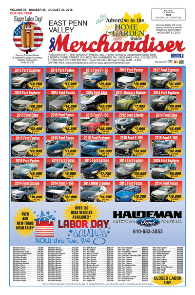 East Penn Valley Merchandiser - Aug 29, 2018