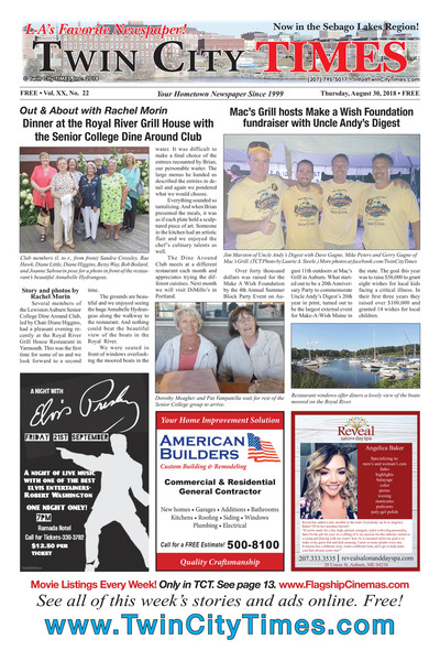 Twin City Times - Aug 30, 2018