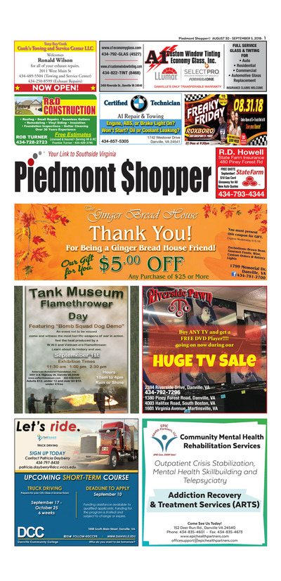 Piedmont Shopper - Aug 30, 2018