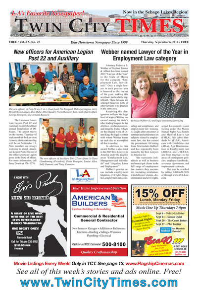 Twin City Times - Sep 6, 2018