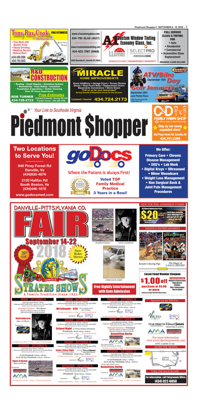 Piedmont Shopper - Sep 6, 2018