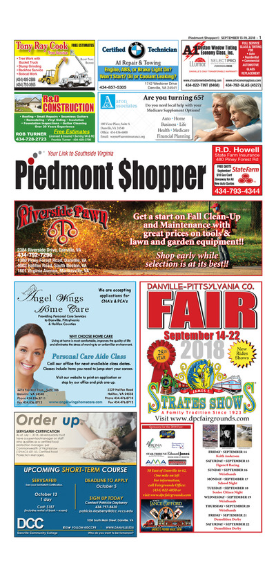 Piedmont Shopper - Sep 13, 2018