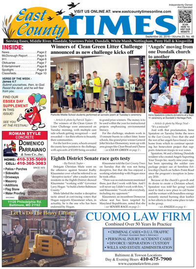 East County Times - Sep 20, 2018