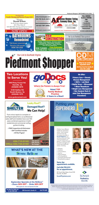 Piedmont Shopper - Sep 20, 2018