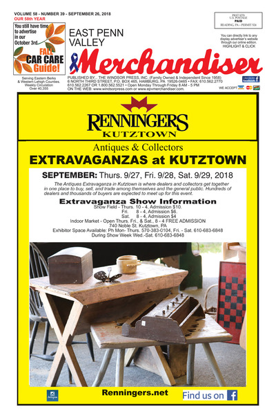 East Penn Valley Merchandiser - Sep 26, 2018