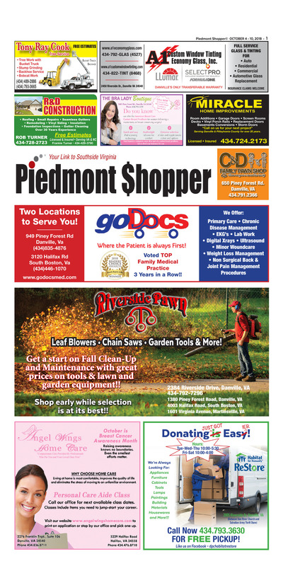Piedmont Shopper - Oct 4, 2018