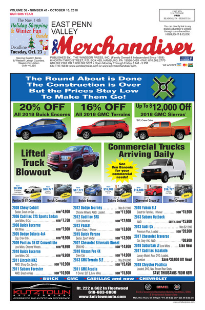 East Penn Valley Merchandiser - Oct 10, 2018