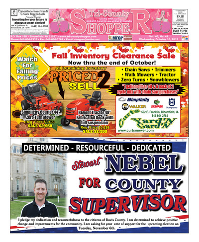Tri-County Shopper - Oct 10, 2018