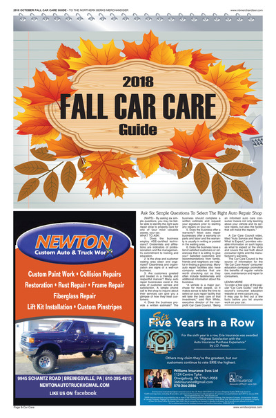 Northern Berks Merchandiser - Fall Car Care - 2018