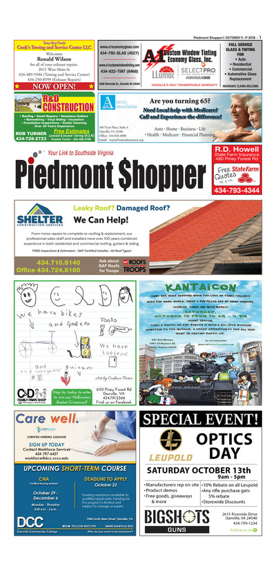 Piedmont Shopper - Oct 11, 2018