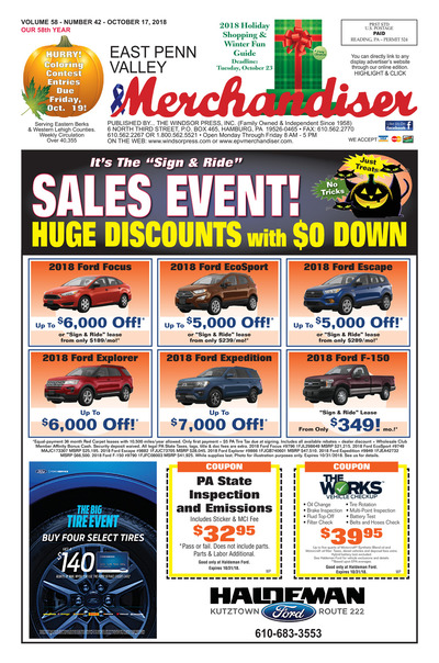 East Penn Valley Merchandiser - Oct 17, 2018