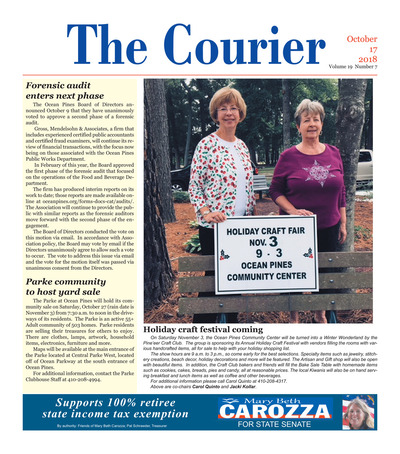 Delmarva Courier - Oct 17, 2018