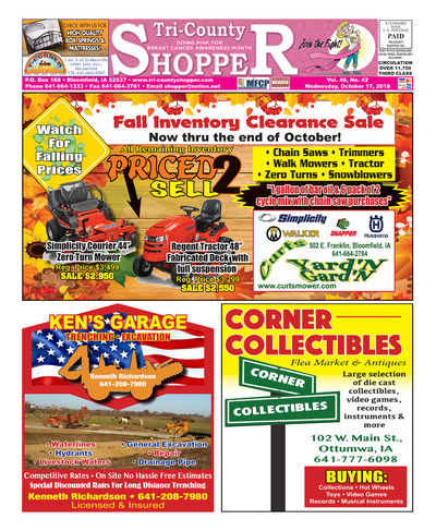 Tri-County Shopper - Oct 17, 2018