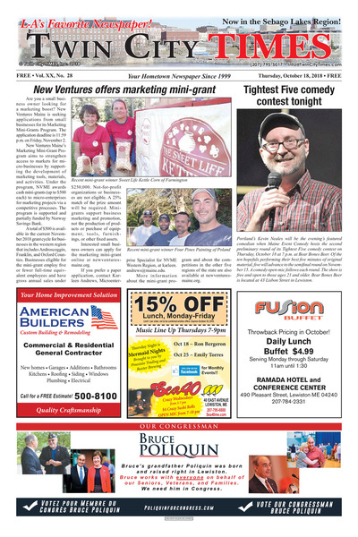 Twin City Times - Oct 18, 2018