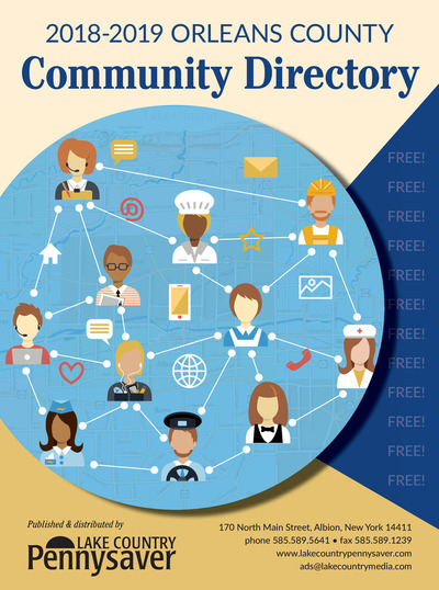 Lake Country Pennysaver - 2018-2019 Orleans County Community Directory