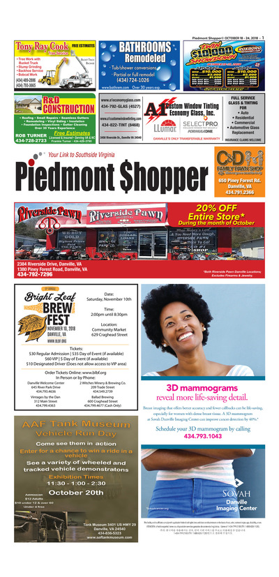 Piedmont Shopper - Oct 18, 2018