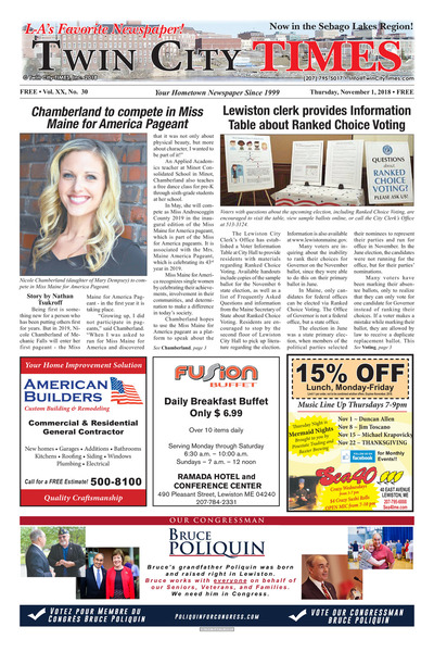 Twin City Times - Nov 1, 2018