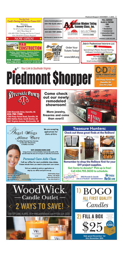 Piedmont Shopper - Nov 1, 2018