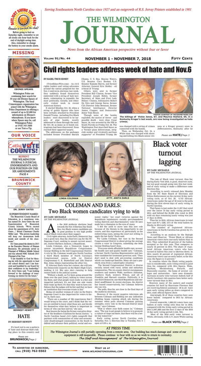 Wilmington Journal - Nov 1, 2018