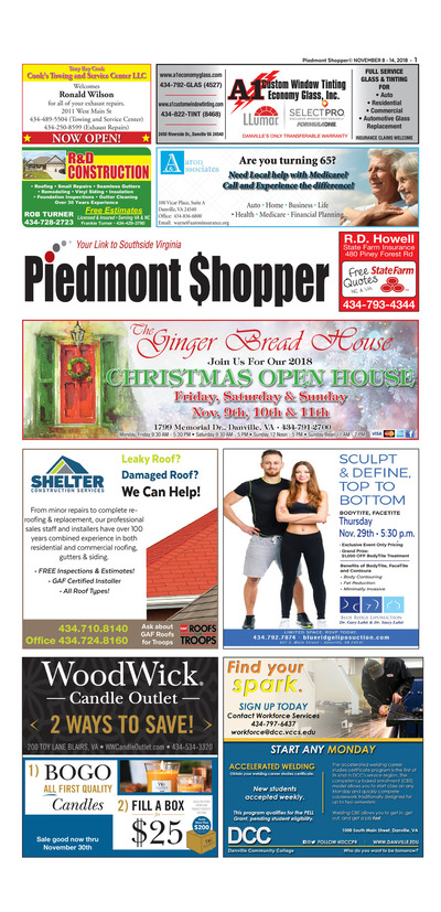 Piedmont Shopper - Nov 8, 2018