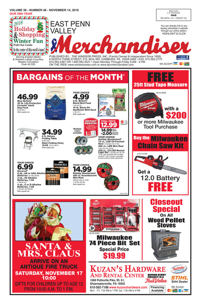 East Penn Valley Merchandiser - Nov 14, 2018