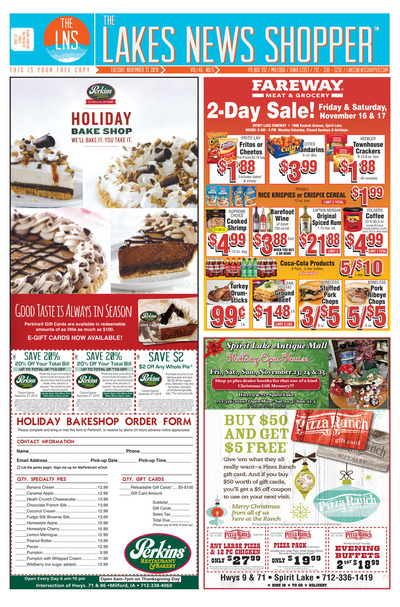 Lakes News Shopper - Nov 13, 2018