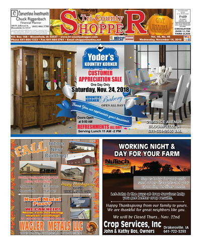 Tri-County Shopper - Nov 14, 2018