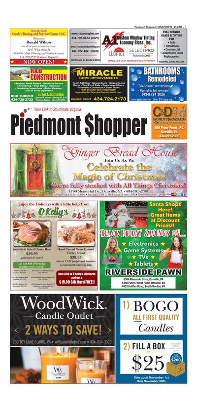 Piedmont Shopper - Nov 15, 2018