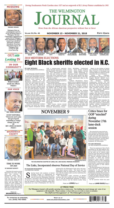 Wilmington Journal - Nov 15, 2018