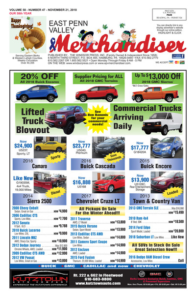 East Penn Valley Merchandiser - Nov 21, 2018